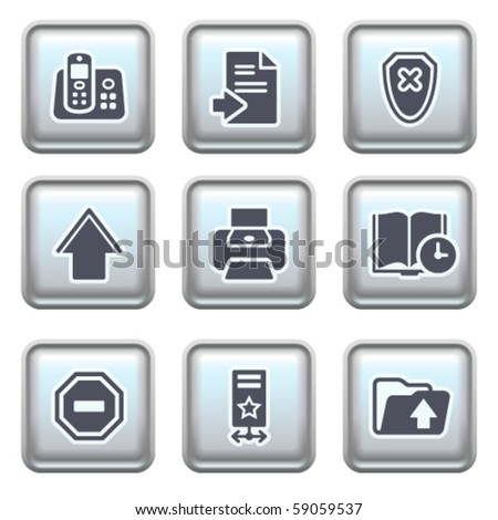 Icon on metal button 4 - stock vector