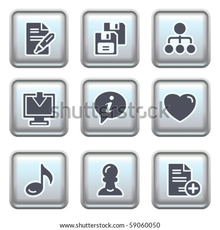 Icon on metal button 10 - stock vector