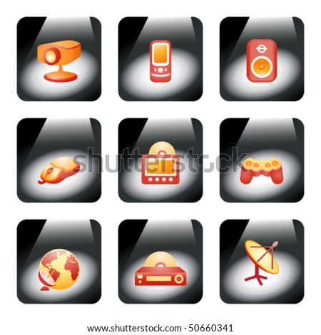 Icon on the light 21 - stock vector