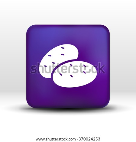 icon potato isolated vegetarian chips meal ripe two logo. - stock vector