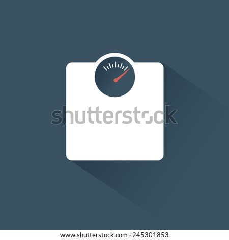 icon scales - stock vector