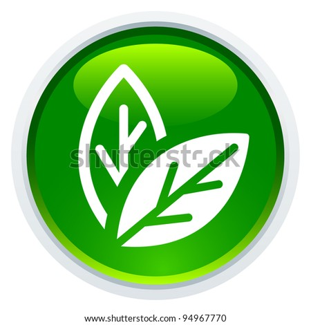 Icon Series - Leaf - stock vector