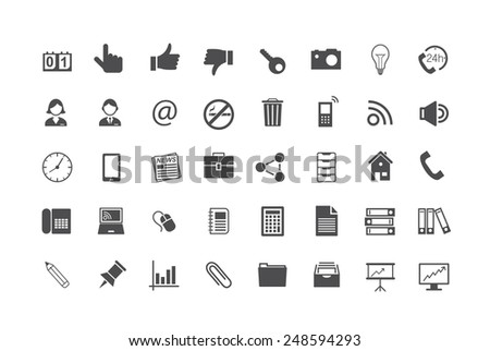 Icon Set Business - stock vector