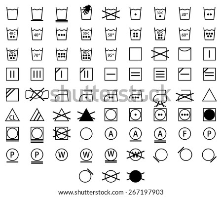 Dryer symbols