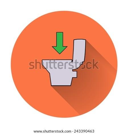 Icon toilet. - stock vector