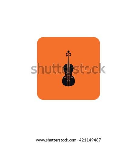 Icon violin. - stock vector