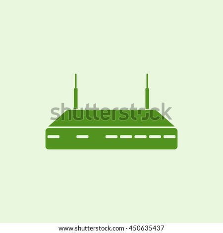 Icon Wireless Router with the antenna. - stock vector