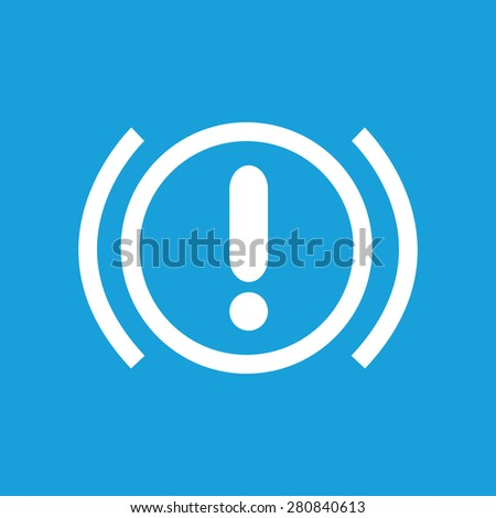 Icon with image of alert sign, isolated on blue - stock vector