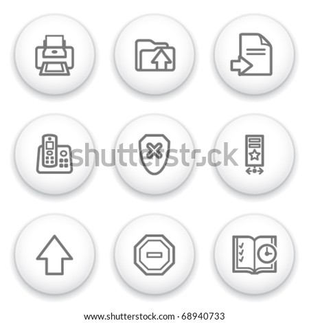 Icon with white button 4 - stock vector