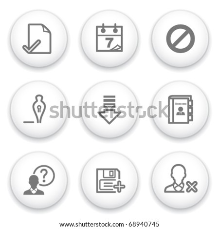Icon with white button 2 - stock vector