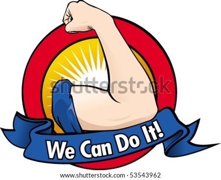 Iconic woman's fist/symbol of female power and industry. - stock vector