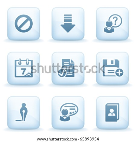 Icons blue series 2 - stock vector