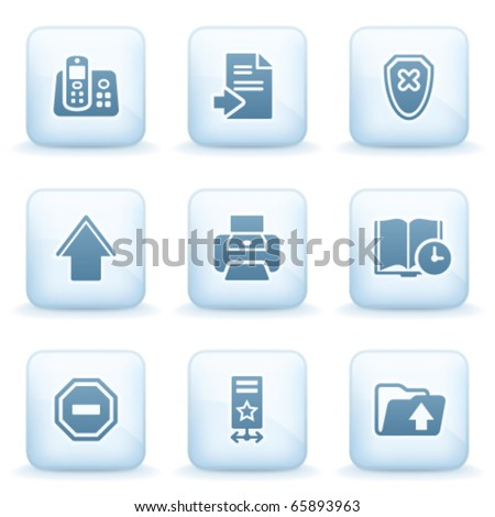 Icons blue series 4 - stock vector