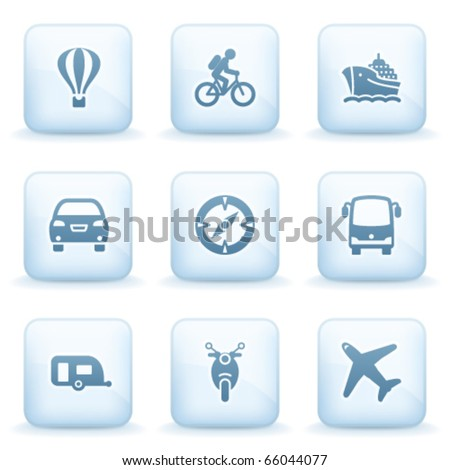 Icons blue series 20 - stock vector