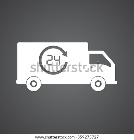 icons delivery - stock vector