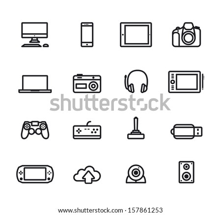 Icons electronic  devices - stock vector