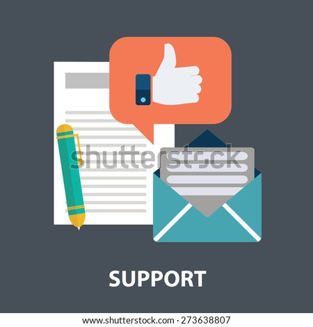 Icons for faq newsletter support contact - stock vector
