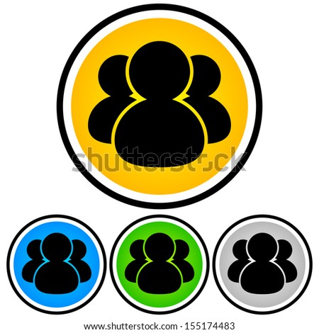 Icons for People, Social Media, Teamwork concept - stock vector