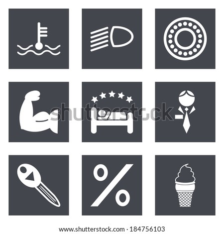 Icons for Web Design and Mobile Applications set 34. Vector illustration. - stock vector