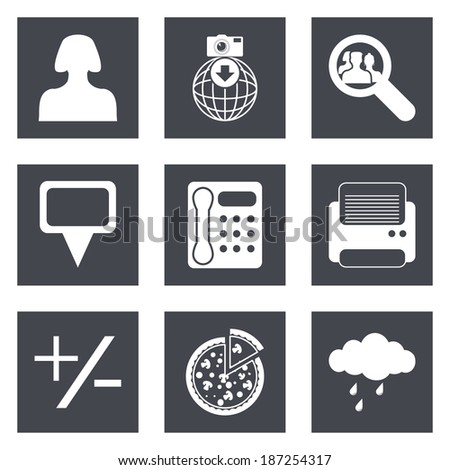 Icons for Web Design and Mobile Applications set 49. Vector illustration. - stock vector