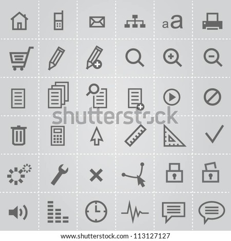 Icons for web designers - stock vector