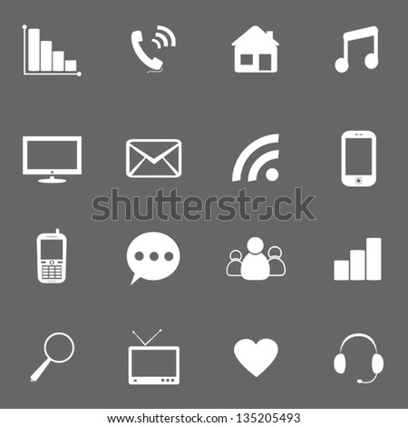 Icons for website. - stock vector