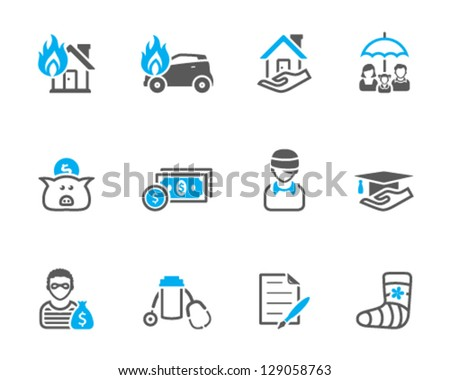 icons in duo tone - stock vector