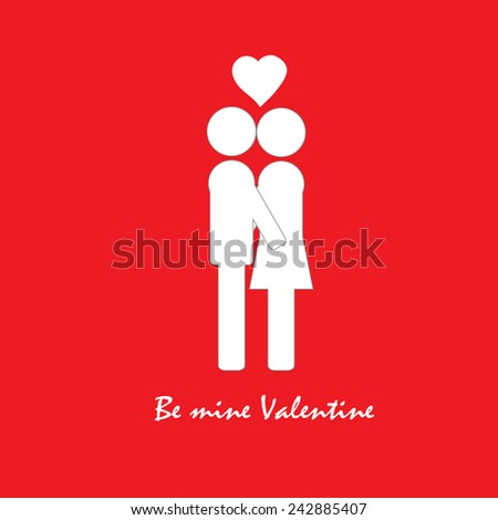 Icons of love relationships: a declaration of love, kiss, valentine's day - stock vector