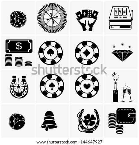 Icons set Casino - stock vector