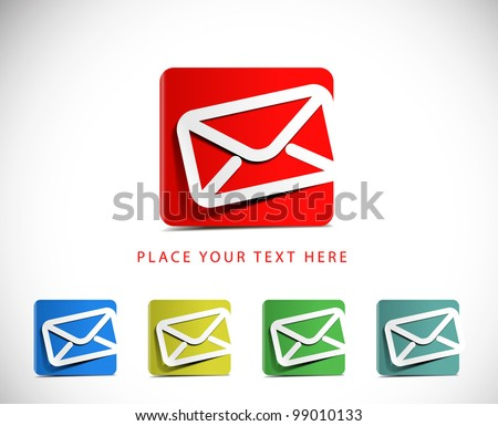 Icons Set for Web Applications, email icons design. - stock vector