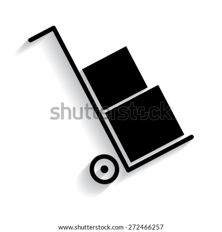 Icons set shipping and delivery with shadow - stock vector