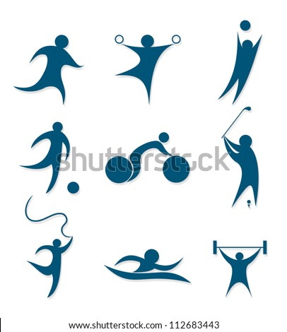 icons sports - stock vector