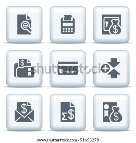 Icons with gray buttons 14 - stock vector
