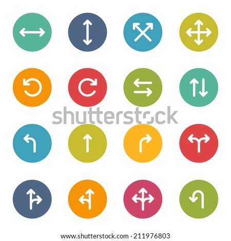 Iconset Arrows Pfeile Icons - stock vector