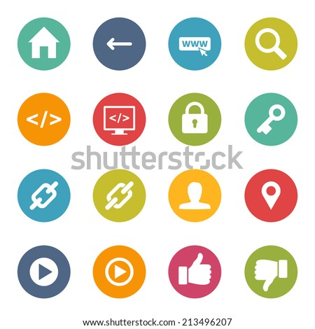 Iconset Homepage Website Icons - stock vector