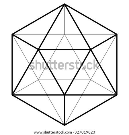 Icosahedron vector illustration - stock vector