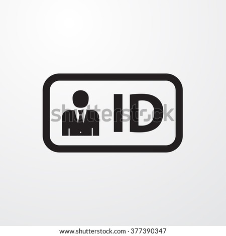 ID icon - stock vector