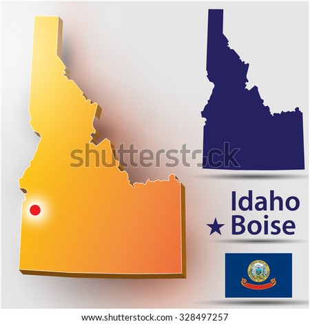 Idaho - stock vector