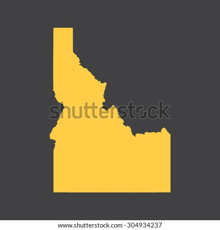 Idaho border,map. Vector illustration EPS8. - stock vector