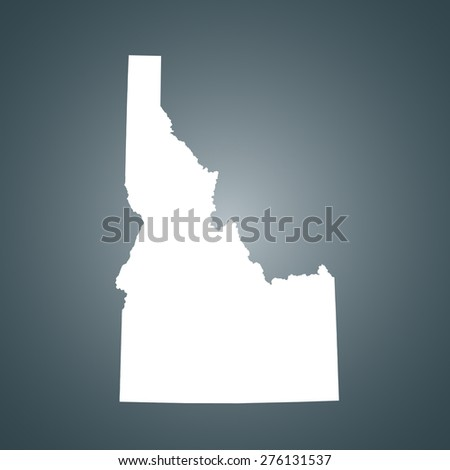 Idaho map - stock vector