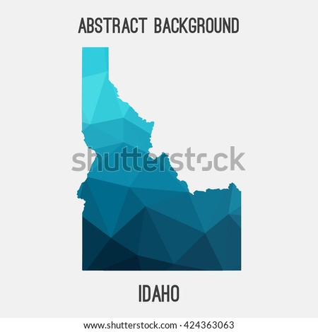 Idaho map in geometric polygonal style.Abstract tessellation,modern design background. Vector illustration EPS8 - stock vector