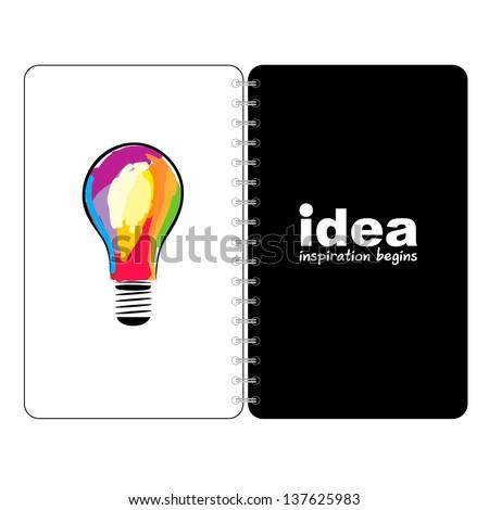 idea Book - stock vector