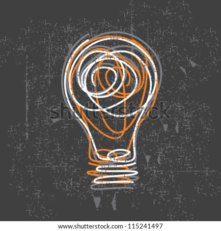 idea bulb on black board - stock vector