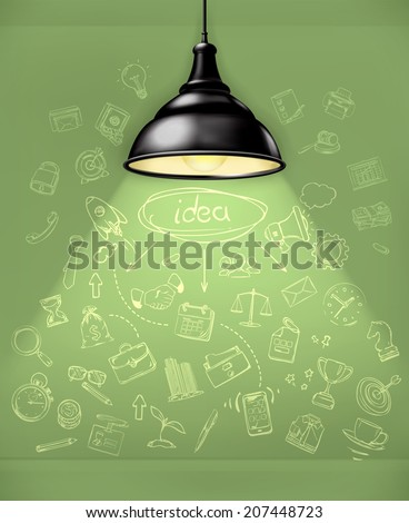 Idea, business infographics vector - stock vector