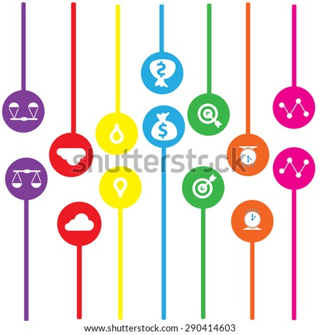 idea colorful background abstract vector illustrator EPS10 - stock vector