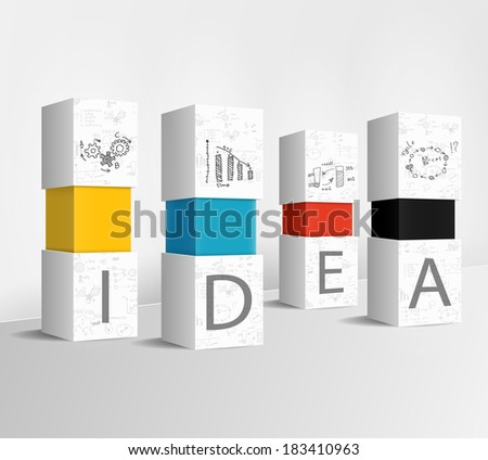 Idea column concept - stock vector
