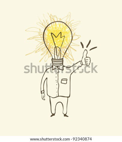 Idea concept.Cartoon illustration - stock vector