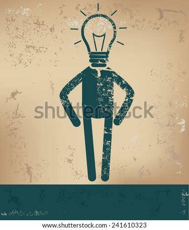 Idea concept,human resource design on old background,grunge vector - stock vector