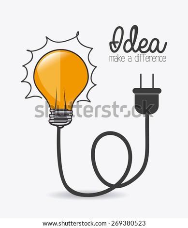 Idea design over white background, vector illustration. - stock vector