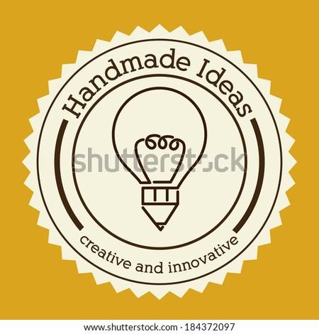 idea  design over yellow background vector illustration - stock vector